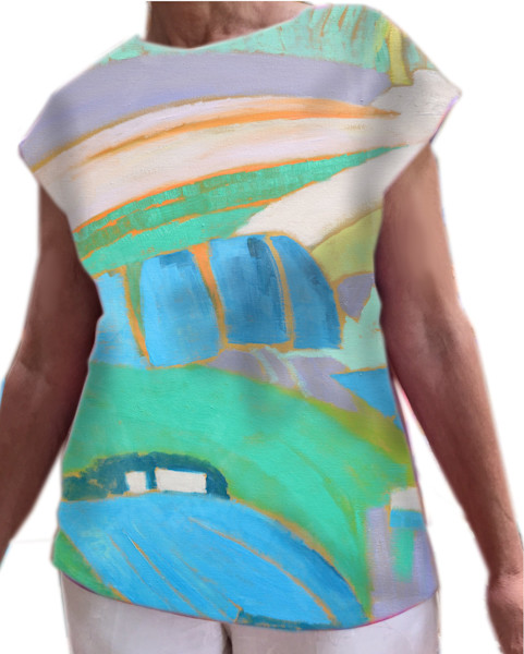 Wearable Art , Evening Landscape Top Dorothy Fagan Collection