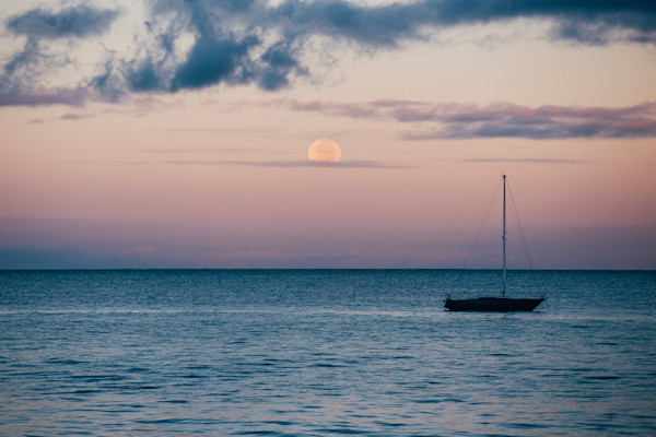 Maui Moonset Fine Art Print Photograph