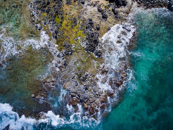 Maui Hookipa Rock Abstract
