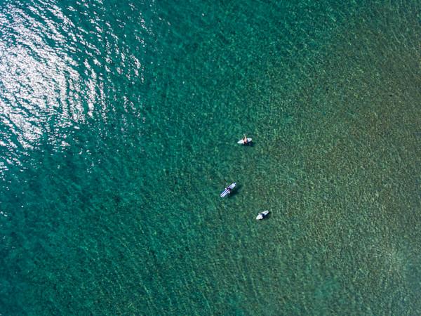 Maui Surfers Floating Aerial