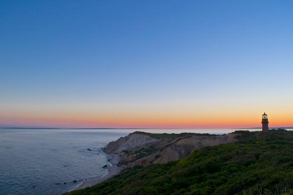Gay Head Cliffs at Dusk