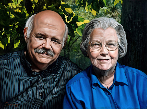 Portrait commission Linda & Ferdinand | Kevin Grass Fine Art