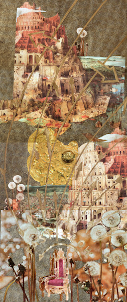 Return me, oh sun, to my wild destiny fine art collage on paper