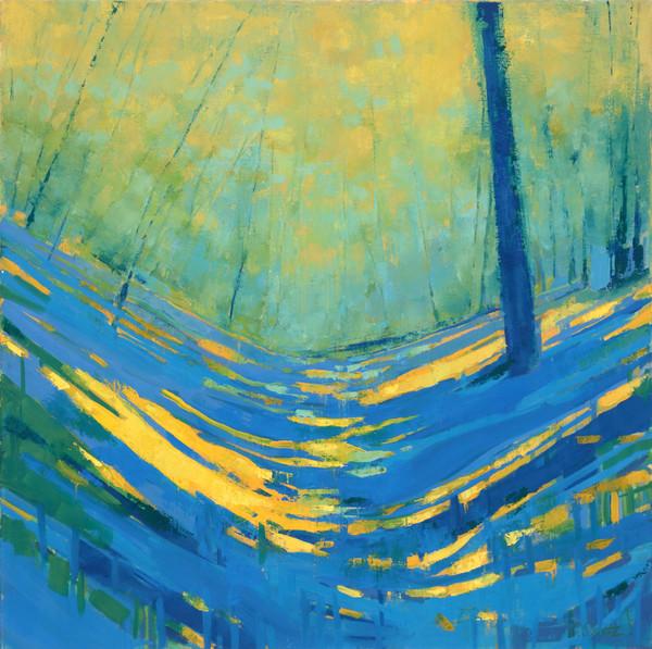 """Golden Light"" landscape painting by Cameron Schmitz"
