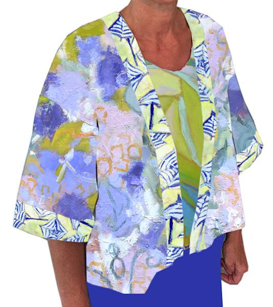 Hydrangea Heaven Kimono Jacket Dorothy Fagan Collection