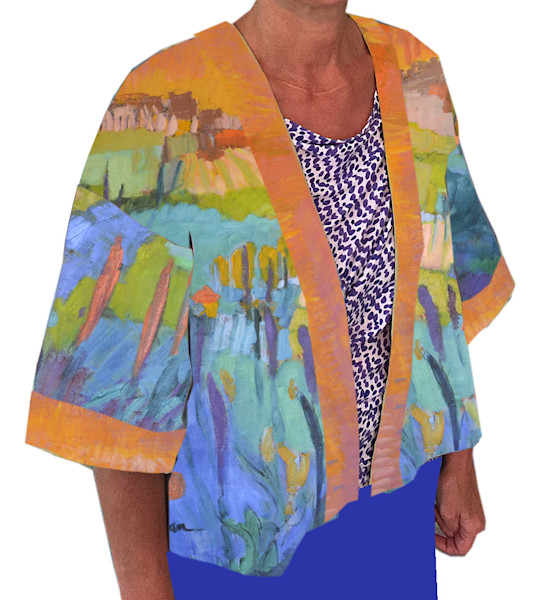 Pond Within Kimono Jacket Dorothy Fagan Collection