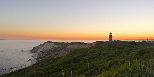 Photograph of twilight at the Gay Head Cliffs on Martha's Vineyard