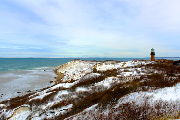 Photograph of the Gay Head Cliffs in winter on Martha's Vineyard