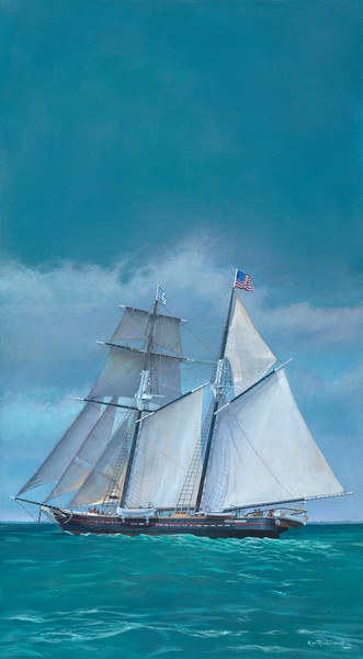The Shenandoah by Kip Richmond- original painting and reproduction from Island Images Gallery