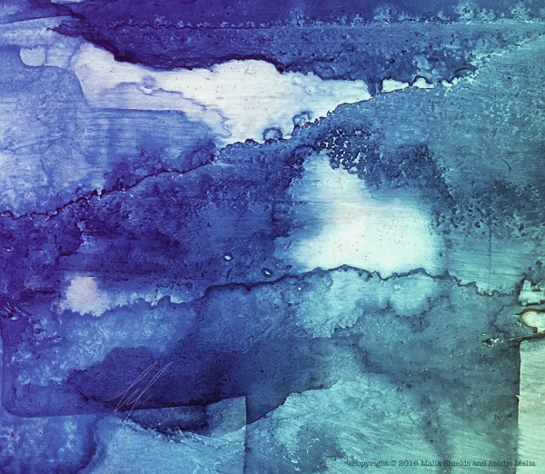 Blue Abstract series 1/2