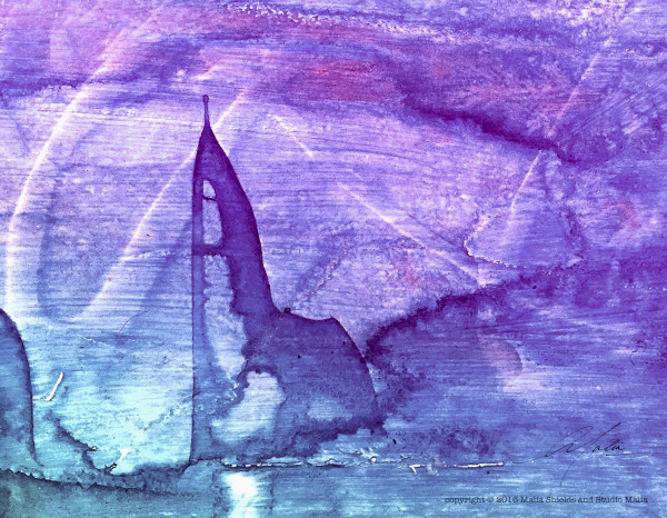 Blue Abstract series (sailing) 2/2
