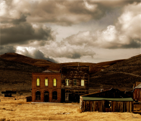 Ghost Town Late Afternoon fine art photograph for sale by Christina Stefani – Stefani Fine Art