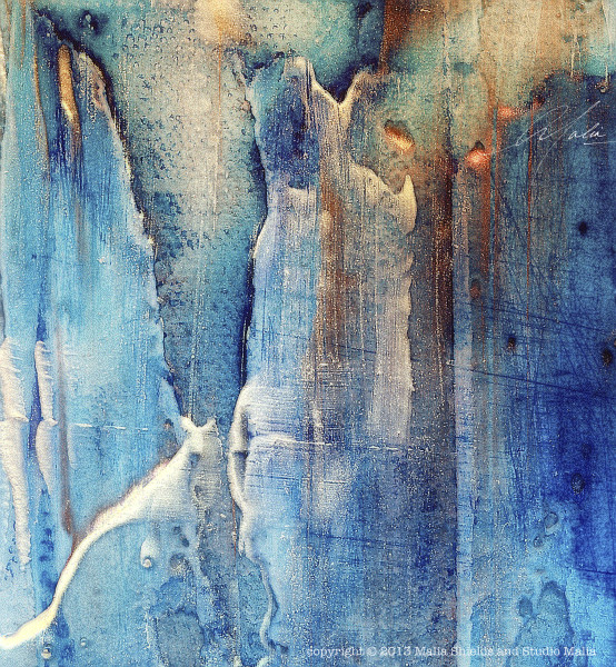 The Blues Series 5/5 v2 reproduction original painting art giclee contemporary abstract