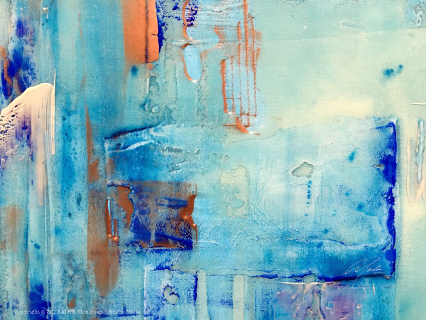 The Blues series 3/5 reproduction original painting art giclee contemporary abstract