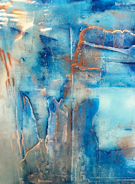 The Blues series 2/5 reproduction original painting art giclee contemporary abstract