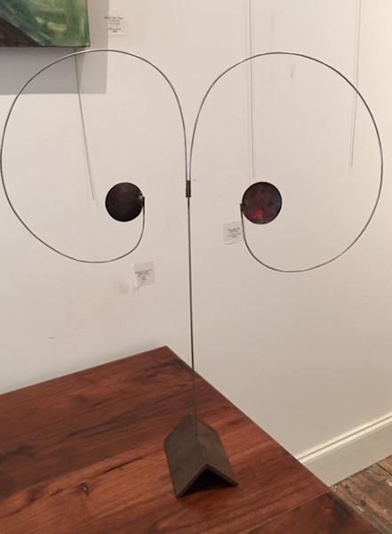 Shop for original sculptures like Floating Disk 3.4, metal, by Harry Loucks at Matt McLeod Fine Art Gallery.