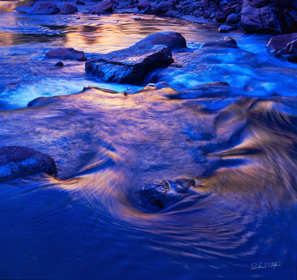 Virgin River Detail Zion photograph for sale by Richard Stefani – Stefani Fine Art
