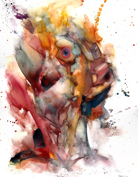 Portraits of imagination- Painted in Watercolor on Yupo Paper