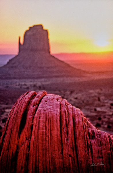 Mitten Sunrise – Monument Valley photograph by Richard Stefani
