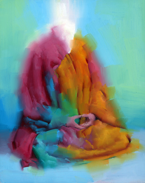 The Art of Meditation- Fine Art print by Akira Beard
