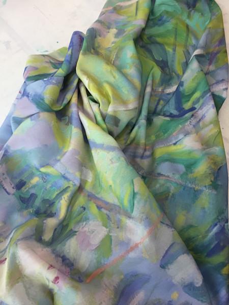 White Lady Azalea Fabric