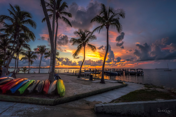 Key Largo Kayak Sunset from Key Largo.  |  photographs art