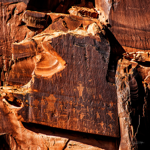 Potash Petroglyphs photograph by Richard Stefani – Stefani Fine Art