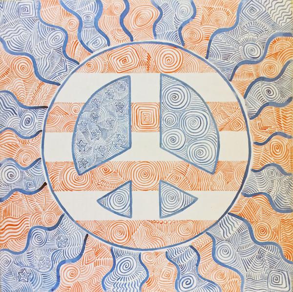 Peace is Patriotic watercolor painting