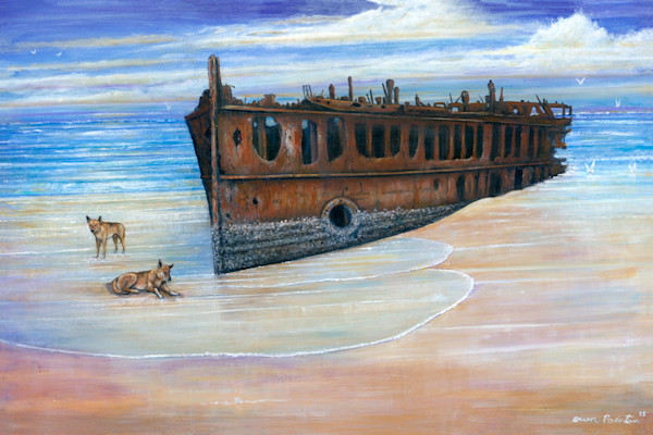 Dingoes Guard the Wreck