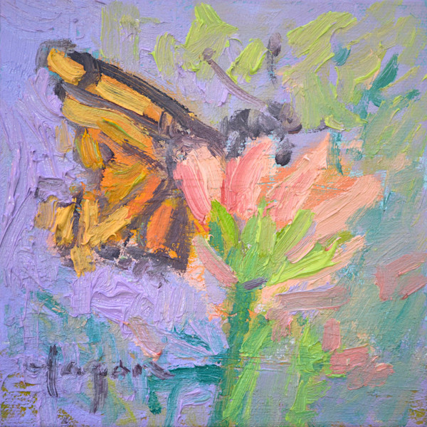 Monarch Nectar - Original Oil Painting by Dorothy Fagan