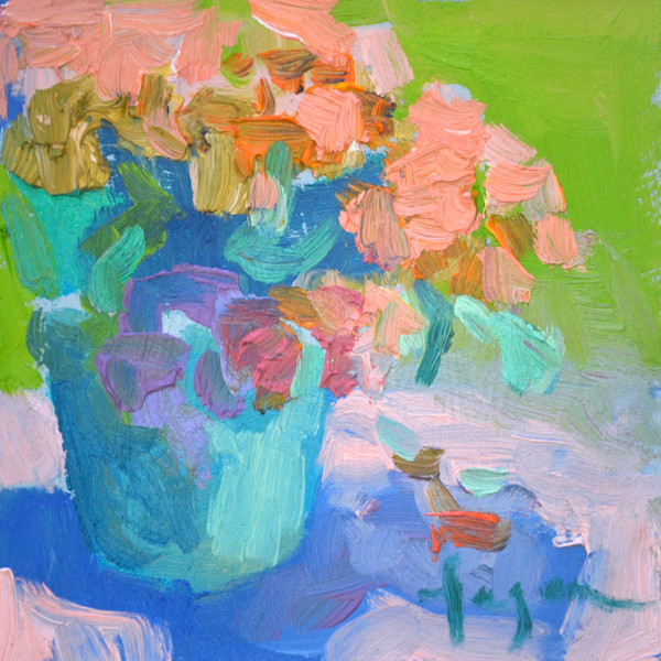 Marigold, Small Oil Painting by Dorothy Fagan