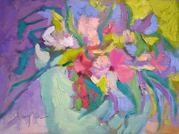 I Love You Buckets   Flower Painting by Dorothy Fagan