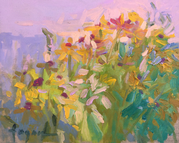 Divas in the Sun   Color Field Painting by Dorothy Fagan