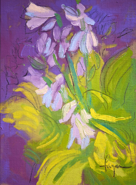 Stand Tall & Bloom | Hosta Painting by Dorothy Fagan