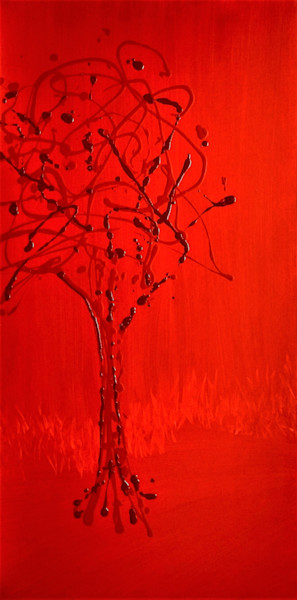Red on Red Ⅰ by Briar Emond | SavvyArt Market original painting