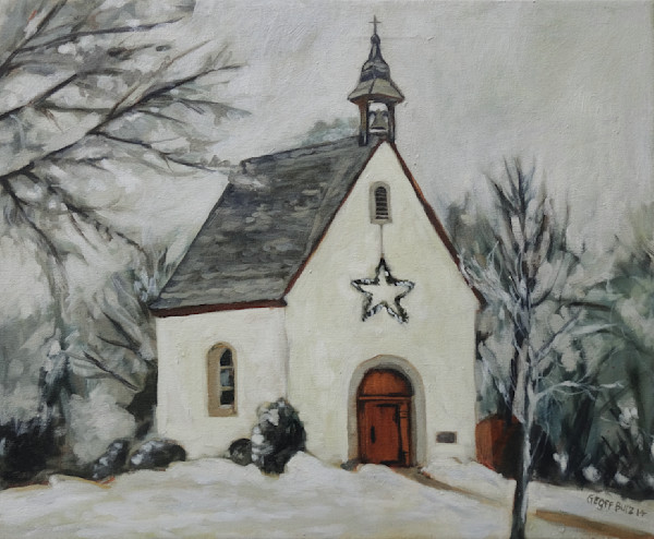 Schoenstatt Shrine Minnesota in Snow Art Print
