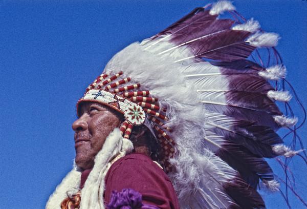 Celilo Falls – Portrait of a Chief photograph by Richard Stefani –Stefani Fine Art