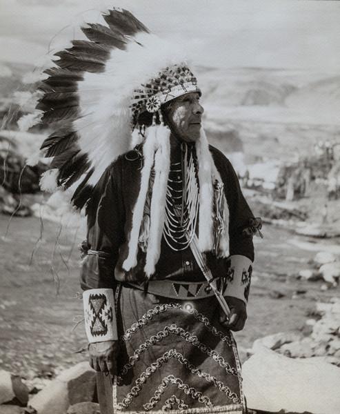 Celilo Falls Chief 1956 photograph by Richard Stefani –Stefani Fine Art