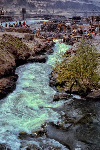Celilo Falls – The Trough photograph by Richard Stefani – Stefani Fine Art