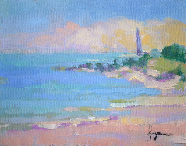 New Point Light, Oil Painting, Dorothy Fagan