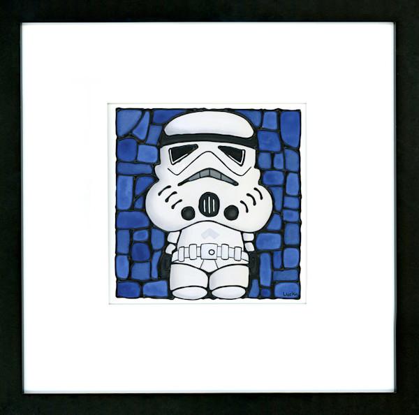 Stormtrooper Original Painting Framed