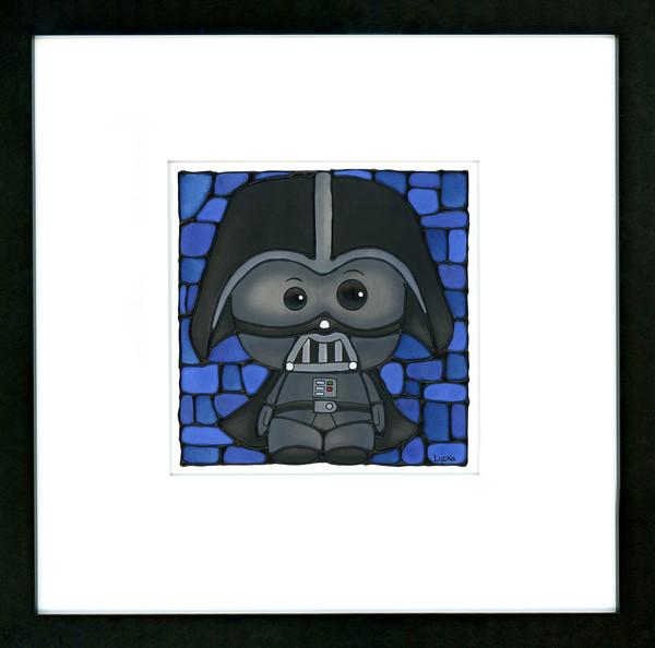 Darth Vader Original Painting Framed