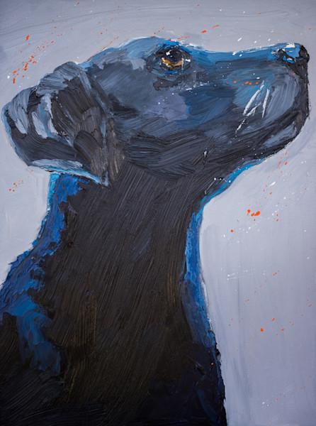 Black Lab painting   Art by Paul William