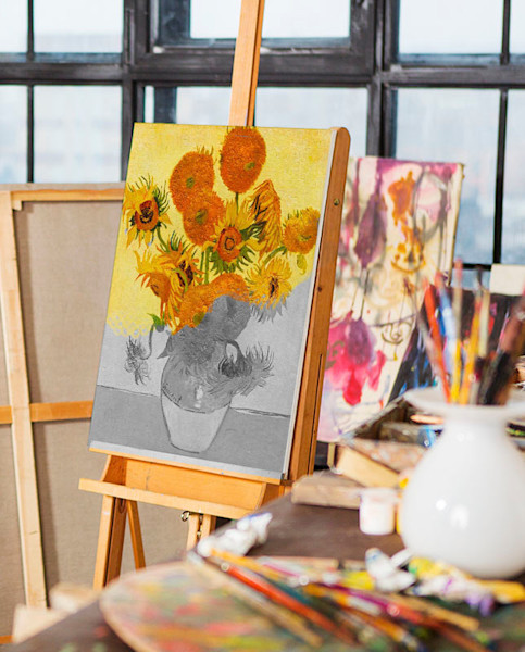 Van Gogh Sunflowers | You Paint the Masters