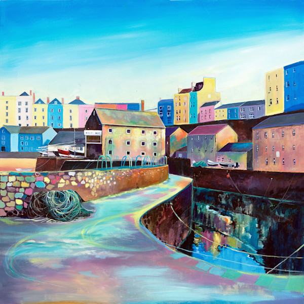 Tenby Harbour Painting/Welsh Art Gallery