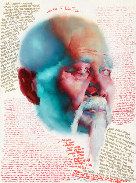 Oil Painting of Lao Tzu available as a Fine Art Print