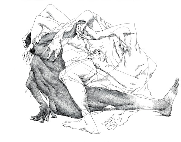 Life Drawing- Ink Drawings by Akira Beard