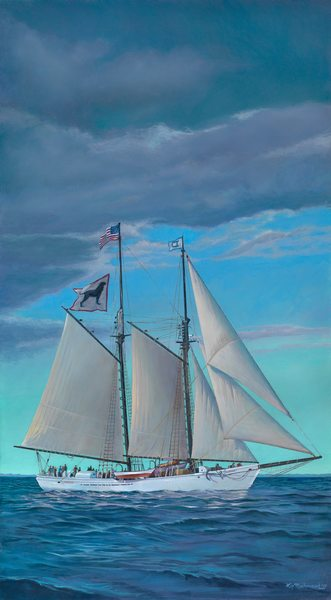 Painting of The Alabama tall ship by Kip Richmond