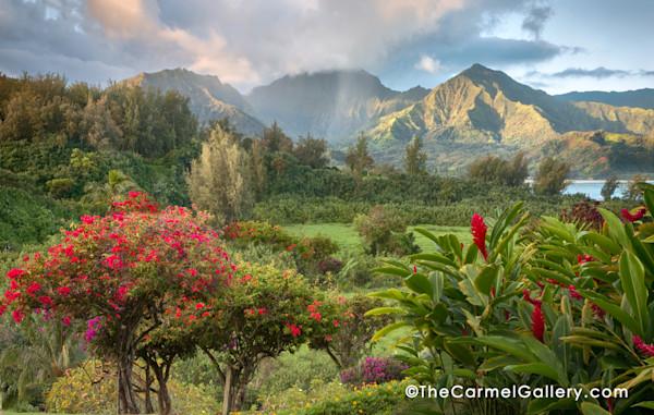 Kauai, the Garden Isle, Hanalei, Kauai flowers garden