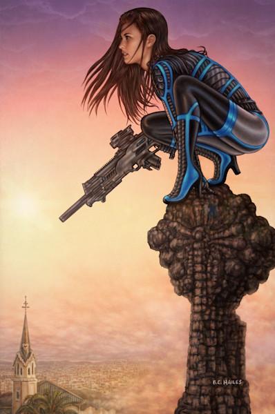 Blink Over Barcelona thriller comic art print